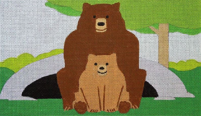 click here to view larger image of Bears (hand painted canvases)