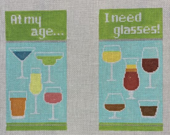 click here to view larger image of At My Age I Need Glasses (hand painted canvases)