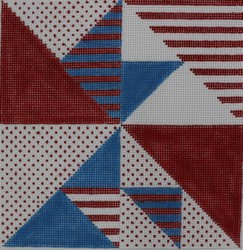 click here to view larger image of Americana Patchwork (hand painted canvases)