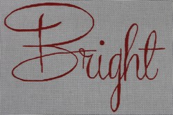 click here to view larger image of Bright Christmas Pillow (hand painted canvases)