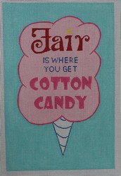 click here to view larger image of Fair is Where You Get Cotton Candy (hand painted canvases)