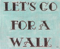 click here to view larger image of Let's Go for a Walk/ Teal (hand painted canvases)