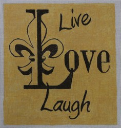 click here to view larger image of Live Love Laugh (hand painted canvases)