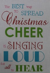 click here to view larger image of Spread Christmas Cheer (hand painted canvases)