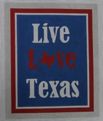 click here to view larger image of Live Love Texas (hand painted canvases)