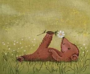 click here to view larger image of Relaxing Little Bear (hand painted canvases)