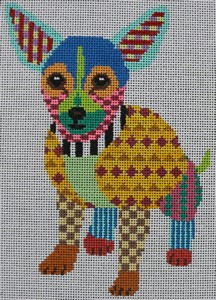 click here to view larger image of Colorful Chihuahua (hand painted canvases)