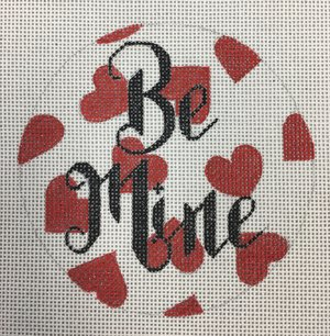 click here to view larger image of Be Mine w/Hearts (hand painted canvases)