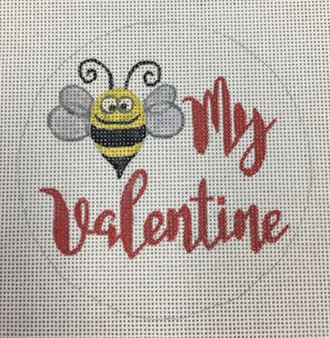 click here to view larger image of Bee My Valentine (hand painted canvases)