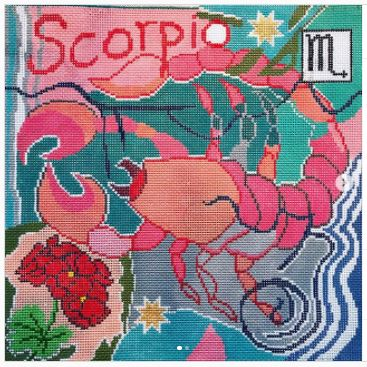 click here to view larger image of Zodiac - Scorpio (hand painted canvases)