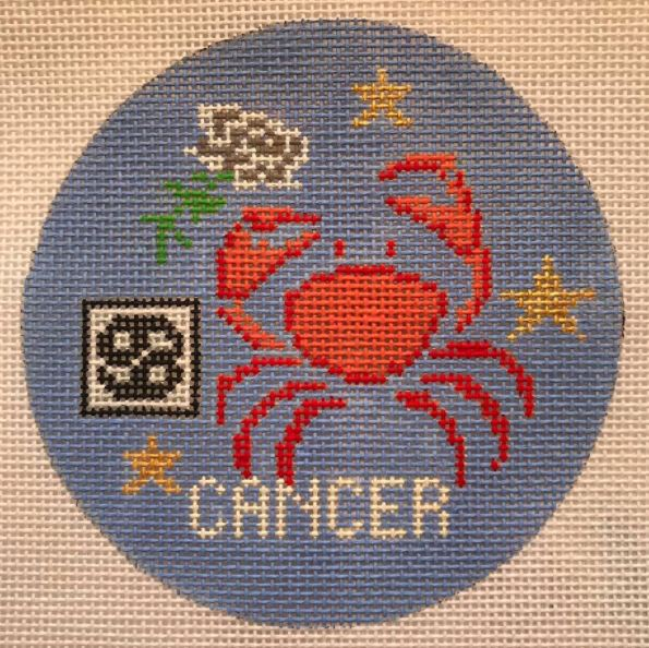 click here to view larger image of Zodiac Collection - Cancer (hand painted canvases)