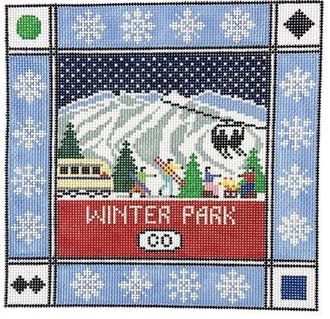 click here to view larger image of Winter Park Colorado (hand painted canvases)