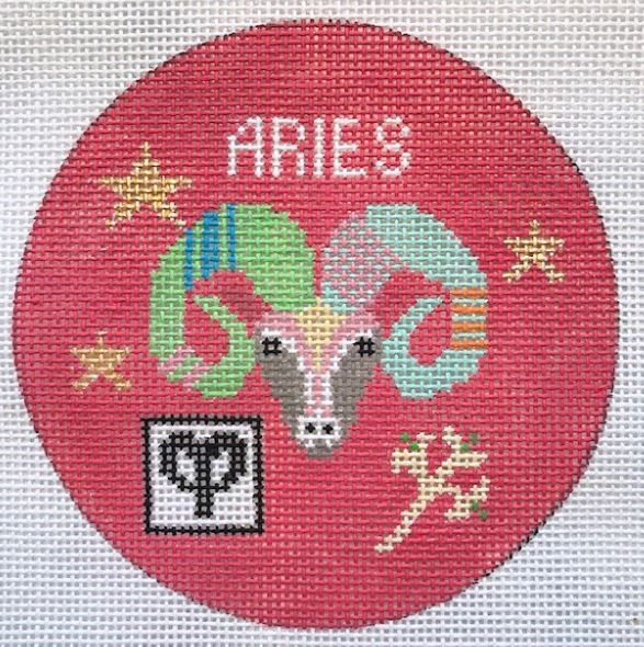 click here to view larger image of Zodiac Collection - Aries (hand painted canvases)
