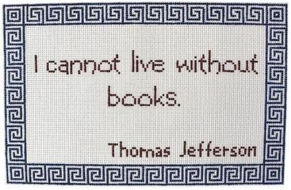 click here to view larger image of I Cannot Live Without Books (hand painted canvases)