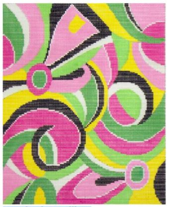 click here to view larger image of Pucci Print (hand painted canvases)