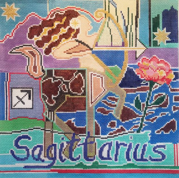 click here to view larger image of Zodiac - Sagittarius (hand painted canvases)
