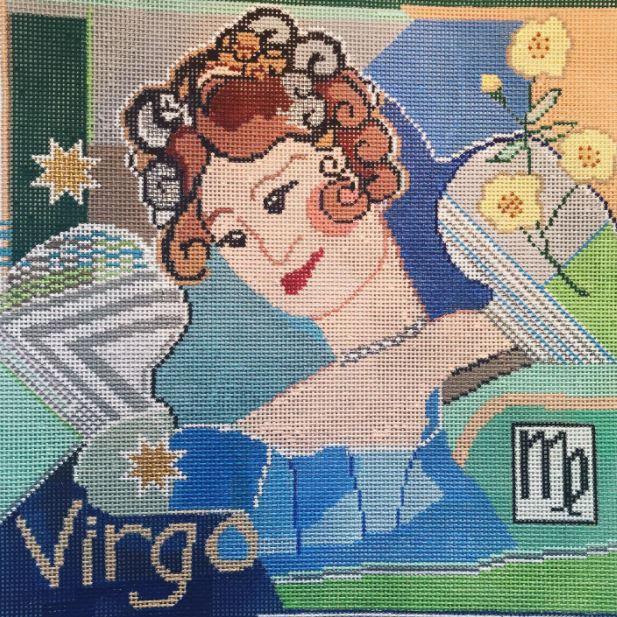 click here to view larger image of Zodiac - Virgo (hand painted canvases)