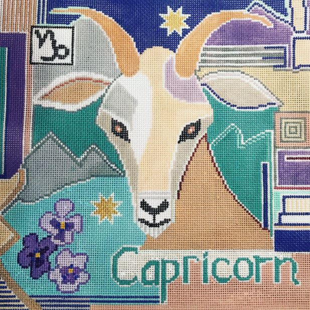click here to view larger image of Zodiac - Capricorn (hand painted canvases)