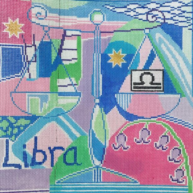 click here to view larger image of Zodiac - LIbra (hand painted canvases)