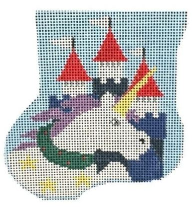 click here to view larger image of Unicorn Mini Sock (hand painted canvases)