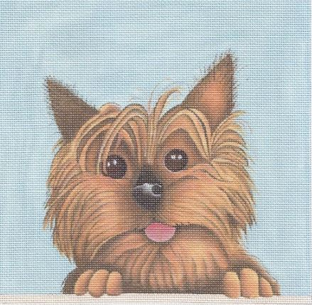 click here to view larger image of Yorkie (hand painted canvases)