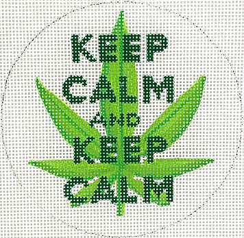 click here to view larger image of Keep Calm and Keep Calm (hand painted canvases 2)