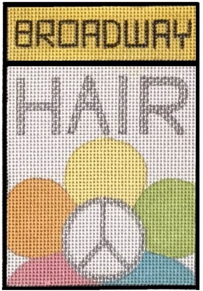 click here to view larger image of Broadway - Hair (hand painted canvases)