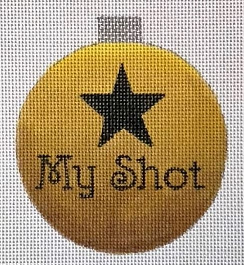 click here to view larger image of My Shot Ornament (hand painted canvases)