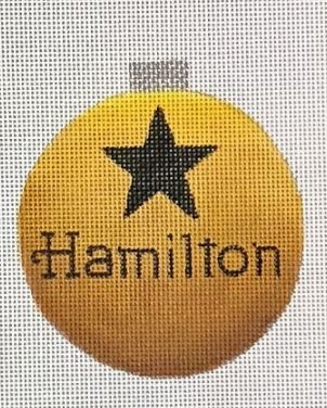click here to view larger image of Hamilton Ornament (hand painted canvases)