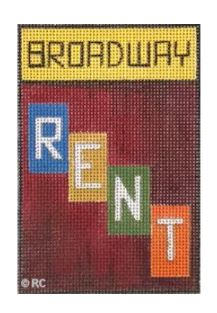 click here to view larger image of Broadway - Rent (hand painted canvases)