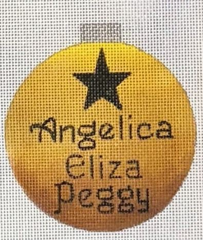 click here to view larger image of Angelica Eliza Peggy Sisters Ornament (hand painted canvases)
