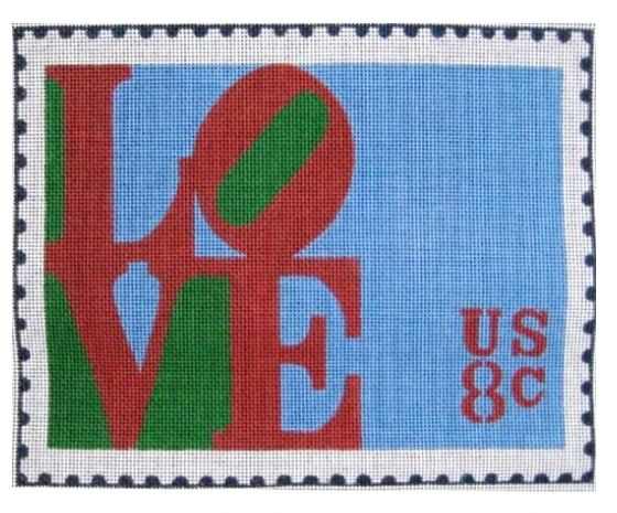 click here to view larger image of Love Stamp (hand painted canvases)