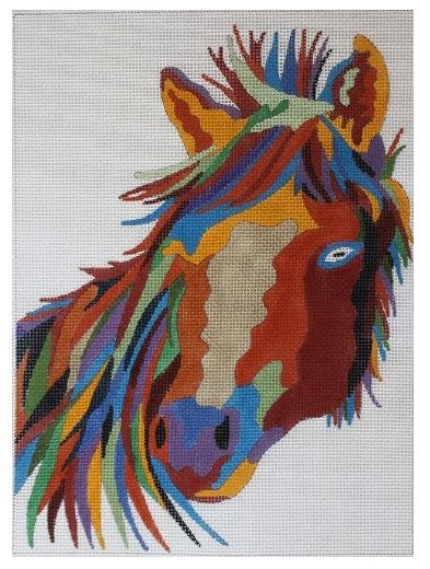 click here to view larger image of Wildlife Gallery - Stallion I (hand painted canvases)