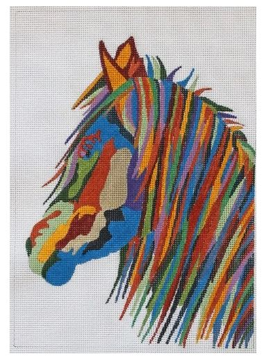 click here to view larger image of Wildlife Gallery - Stallion II (profile) (hand painted canvases)