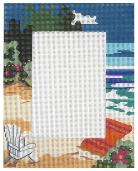 click here to view larger image of At the Beach Frame (hand painted canvases)