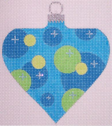 click here to view larger image of Atomic Christmas Blue Bubble Bauble (hand painted canvases)