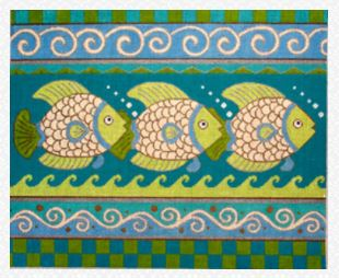 click here to view larger image of 3 Big Fish (hand painted canvases)