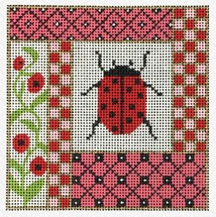 click here to view larger image of Ladybug (hand painted canvases)