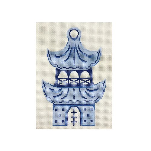 click here to view larger image of Pagoda Ornament (hand painted canvases)