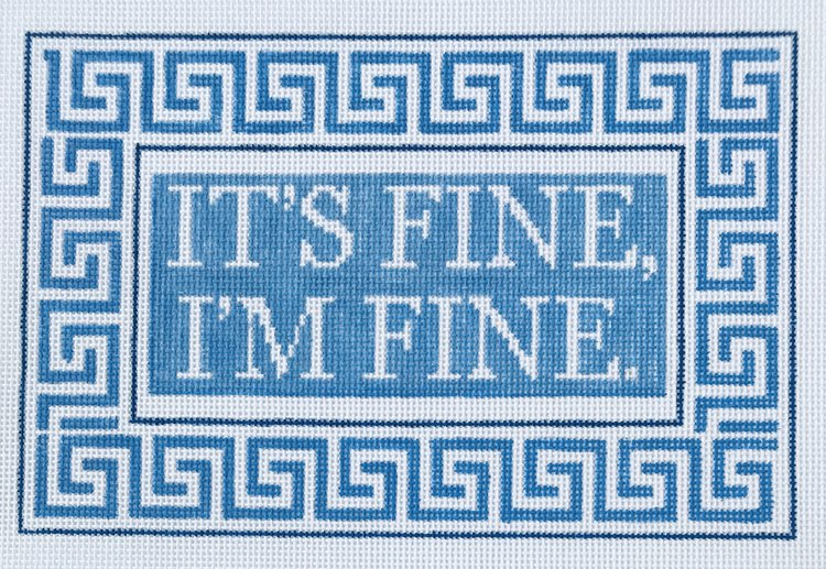 click here to view larger image of Its Fine, I'm Fine (hand painted canvases)
