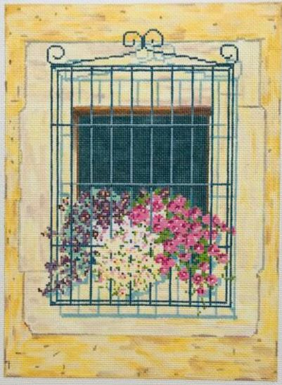 click here to view larger image of Cecis Window (hand painted canvases)