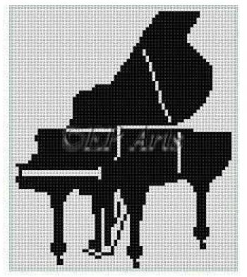 click here to view larger image of Grand Piano (hand painted canvases)