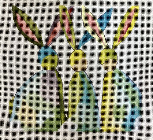 click here to view larger image of Three Rabbits (hand painted canvases)