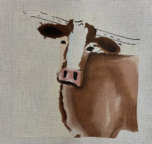 click here to view larger image of Tilted Steer (hand painted canvases)