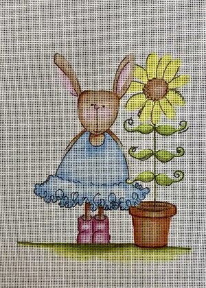 click here to view larger image of Rabbit Sunflower (hand painted canvases)