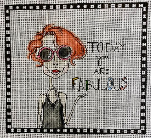 click here to view larger image of Today You Are Fabulous (hand painted canvases)