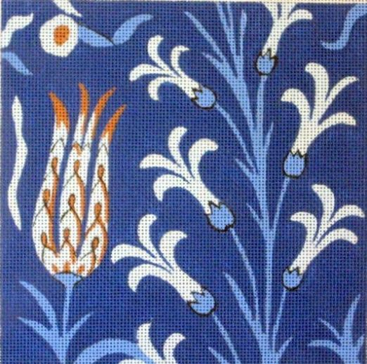 click here to view larger image of Ottoman Tulips (hand painted canvases)