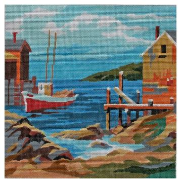 click here to view larger image of Boat Landing (hand painted canvases)