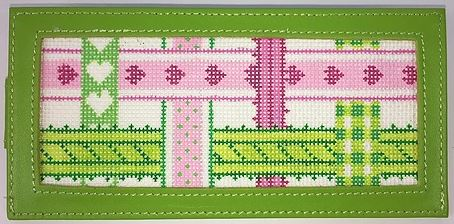 click here to view larger image of Pink/Green Ribbon Insert (hand painted canvases 2)