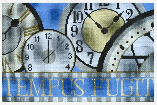 click here to view larger image of Tempus Fugit (hand painted canvases)